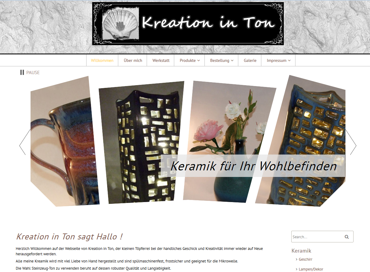 Kreation in Ton
